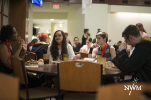 Stopping off in the dining hall is important. Don't do magic on an empty stomach!